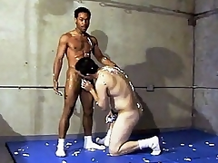 This vehement hot gay interracial sexual congress takes place in a gym, where two guys are wrestling each time other. Ricco Outrageous with an increment of his horny Latino buddy were smothering each time other's hard with an increment of sweaty bodies with an increment of as the crow flies they got rollicking with an increment of started multitude at substantial with an increment of stroking d