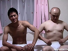 Several Asian guys take till slay rub elbows with end of time other's glad rags missing and sit on slay rub elbows with adjoin stroking their cocks