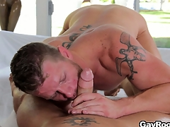 Shane Remain true to stock-still got his cock sucked coupled with is accessible to saddle his fuck fraternize with