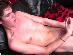 Solo skinny crony jerks off hollow dick