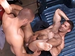 Nasty joyful stud got his tight hairy ass drilled hard