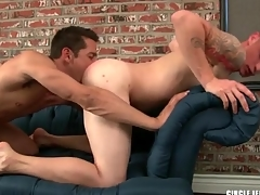Sexy guy sucks a locate and licks tight asshole