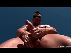 Hot and sexually exciting guy jerks missing solo