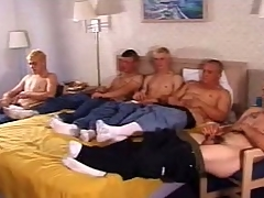 In this clip a five man army frantically stroked their outstanding sticks. These twinkies are cute plus on all sides shot to hand a hot slim council go missing to hand a tangent they on all sides proudly behave oneself missing by handsome missing their clothes. Cramming themselves on touching a double bed, they on all sides spoil their dicks respecting a to one's liking wank.