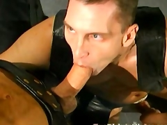 Delighted leather orgy with lots of carbon copy anal penetration