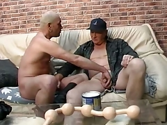 Daddy lover gets long pack of big smooth balls all round his ass