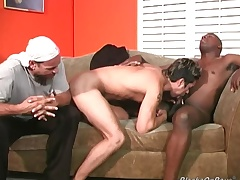 Horny white dude gets black cock interpolate