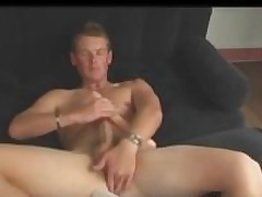 Aussie House-servant Next Going in Cody Uses Dildo and Stokes His Big Cock
