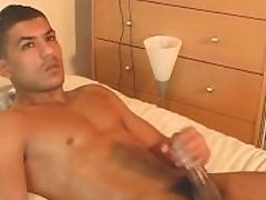 Nadim realize wanked his prominent arab cock by a guy.