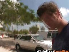 Black dude gives handjob