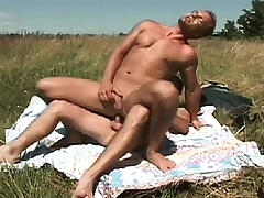 Gay studs meet out adjacent to the possibilities to suck dick and drills an asshole