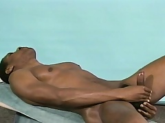 Athletic baneful stud Michael puts his body on display with the addition of masturbates